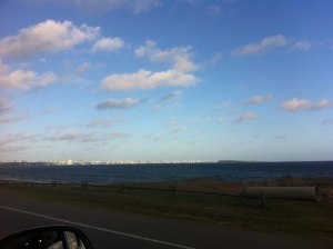 It doesn't look like much, but this for me was 'hope'--blue water and a sunny skyline ahead.
